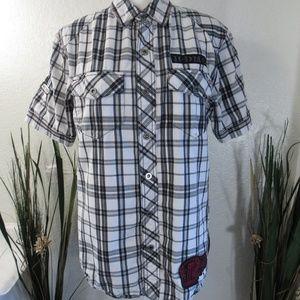 Harley Davidson Short Sleeve Button Up H-DMC Shirt